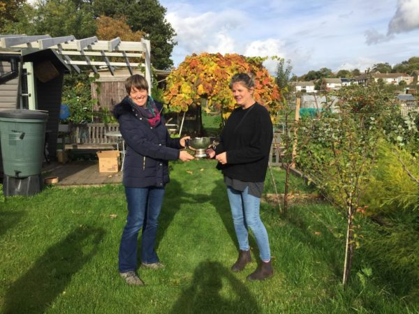 Presentations to last year's plot competition winners
